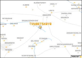 map of Trubetskaya