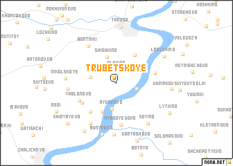 map of Trubetskoye