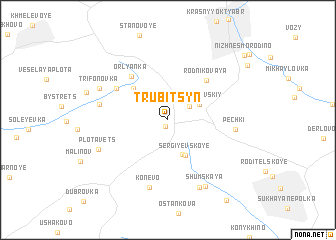 map of Trubitsyn