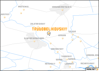 map of Trudobelikovskiy