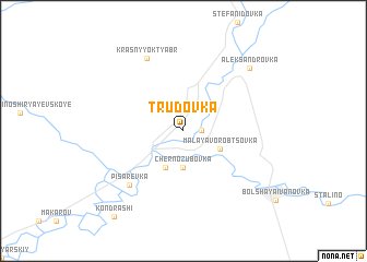 map of Trudovka