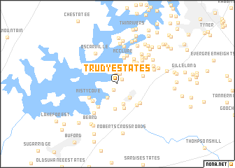map of Trudy Estates