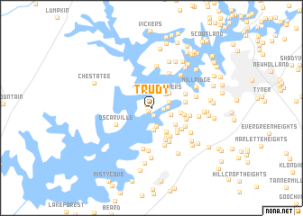 map of Trudy