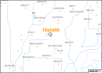 map of Trumann