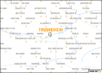 map of Trushevichi