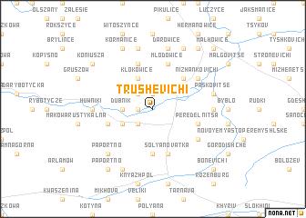 map of Trushevichi