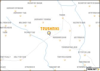 map of Trushniki
