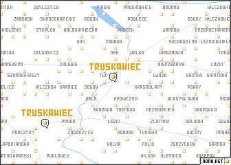 map of Truskawiec