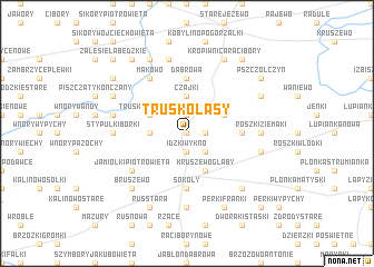map of Truskolasy