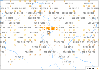 map of Tryavna