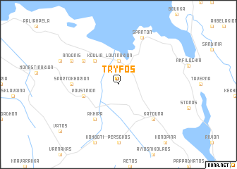 map of Trýfos