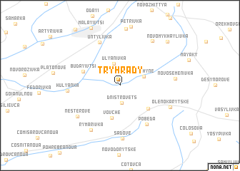 map of Tryhrady
