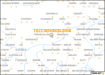 map of Trzcianka Kolonia