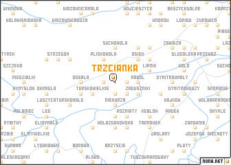map of Trzcianka
