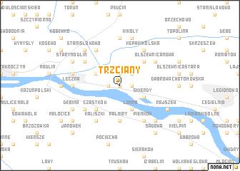 map of Trzciany