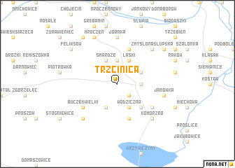 map of Trzcinica