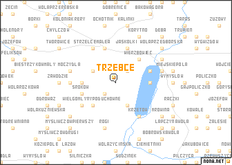 map of Trzebce