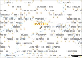 map of Trzeciny
