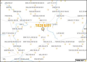 map of Trzęsiny