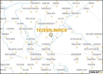 map of Trześń Ławnica