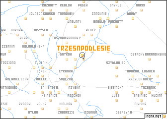 map of Trześń Podlesie