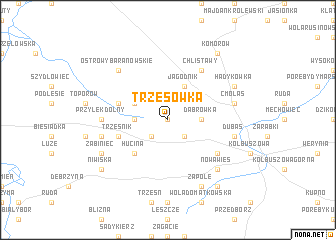 map of Trzęsówka