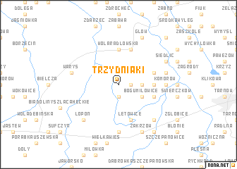 map of Trzydniaki