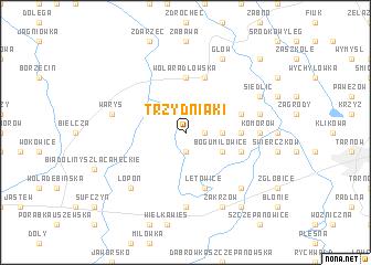 map of Trzydniaki