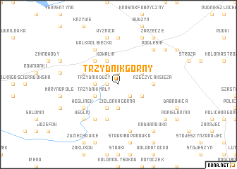 map of Trzydnik Górny