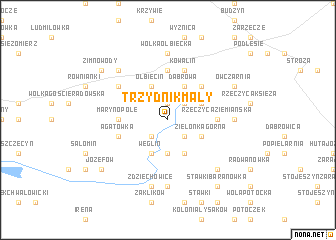 map of Trzydnik Mały