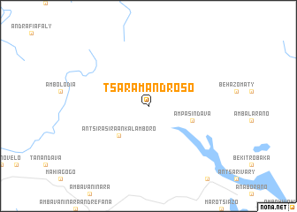 map of Tsaramandroso