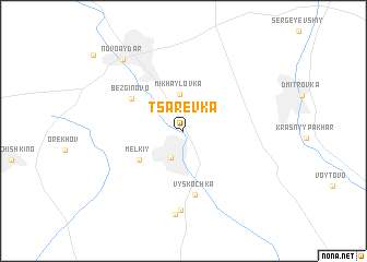 map of Tsarëvka