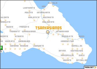 map of Tsarkasiános