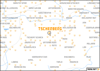 map of Tscherberg