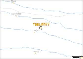 map of Tselinnyy