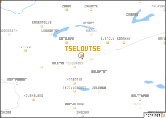 map of Tselovtse