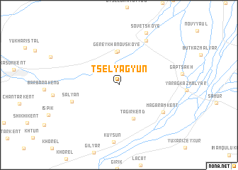 map of Tselyagyun