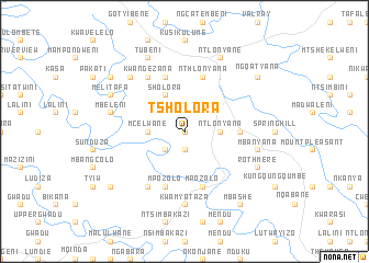 map of Tsholora
