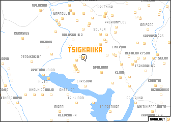 map of Tsigkaíika