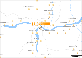 map of Tsinjorano