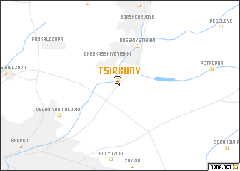 map of Tsirkuny