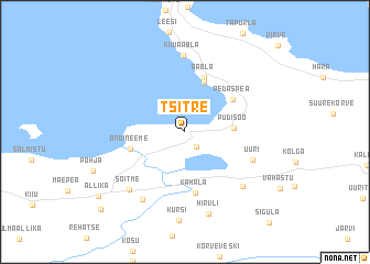 map of Tsitre