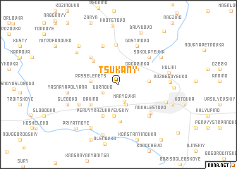 map of Tsukany