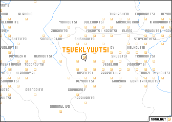 map of Tsveklyuvtsi