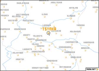 map of Tsynka