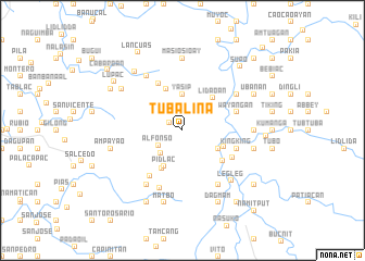 map of Tubalina