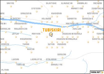 map of Tūbiškiai