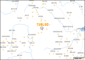 map of Tublao