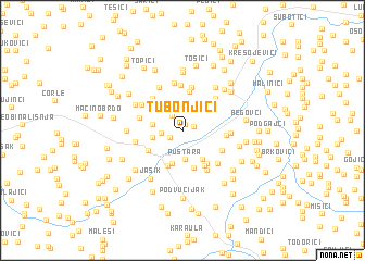 map of Tubonjići