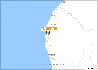 map of Tuburan
